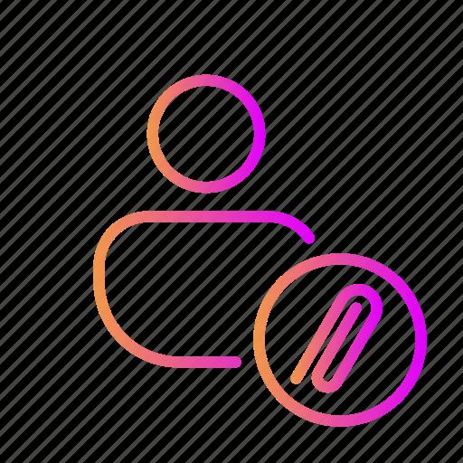 Attach file, cliping, email attachment, file attachment, paper clip icon - Download on Iconfinder