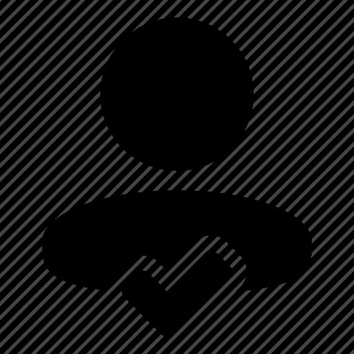 accept, approve, check, human, tick, user icon
