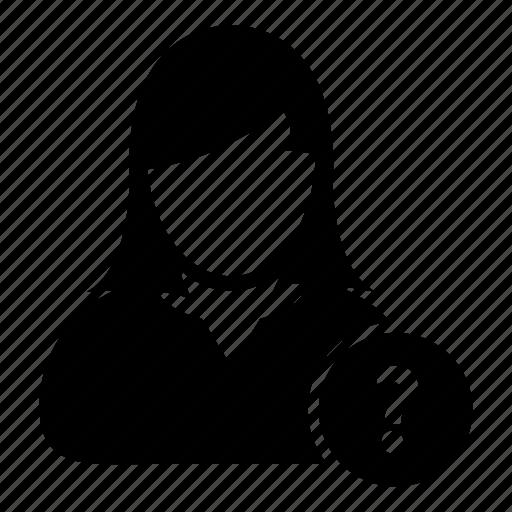 faq, information, knowledge, person, question, user icon