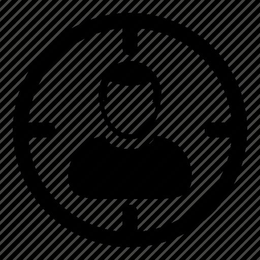 customer, man, person, profile, target, user icon