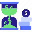 business, concept, crruncy, dollar, hourgalss, importance, is money, marketing, money, sandglass, time icon icon
