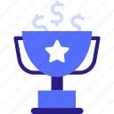 achievement, achive, achived icon, award, concept, customer, dollar, goal, money, trophy icon