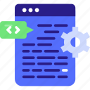 application, clear, cocept, development, development icon, programming, source, source code icon