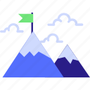achievement, challenge, mission, peak, success, trophy icon icon