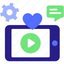 marketing, media, play, seo, tablet, video, video marketing icon, youtube icon