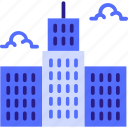 architecture, big city, building, business, city, house, office, office icon, skyscraper icon hotel icon
