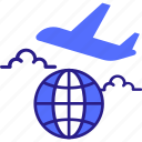 airplane, business, flight, global, international, travel icon icon