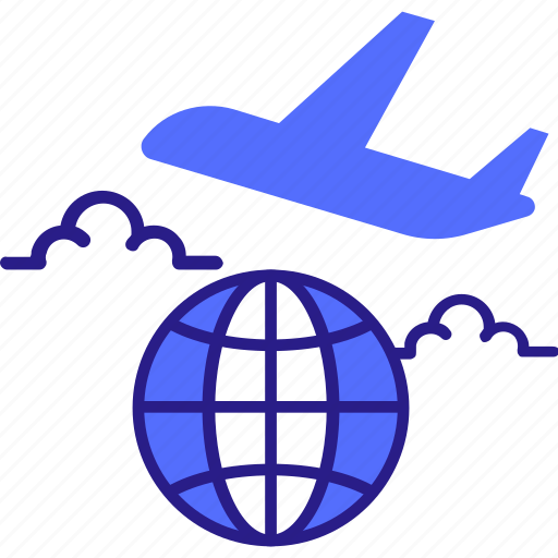 airplane, business, flight, global, international, travel icon icon