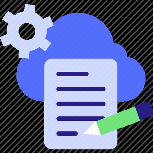 cloud maintenance, cloud service icon, cloud settings, cocnept, gear, network settings, process icon