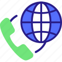 call, conference call, global conference call, globe, telecommunication icon icon