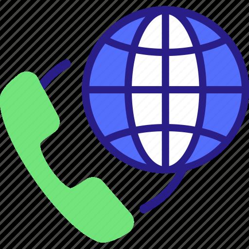 call, conference call, global conference call, globe, telecommunication icon icon