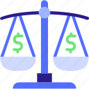 balance, balance icon, debt, dollar, mortgage loan, taxes icon