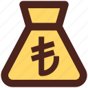lira, suck, bag, user interface, money icon