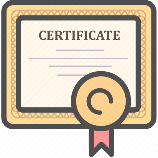 certificate, certification, contract, diploma, license icon