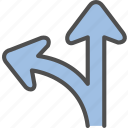 direction, navigation, path, way icon