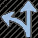 direction, navigation, path, way icon