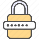 lock, padlock, password icon