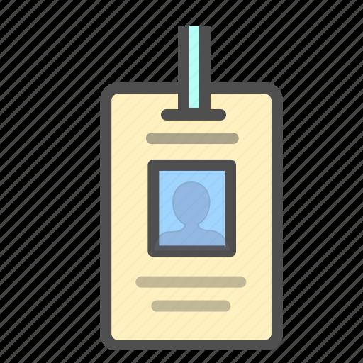 employee card, identification, identity, identity card icon