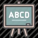 blackboard, chalkboard, whiteboard icon