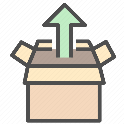 box, storage, upload icon