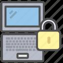 laptop, lock, notebook icon