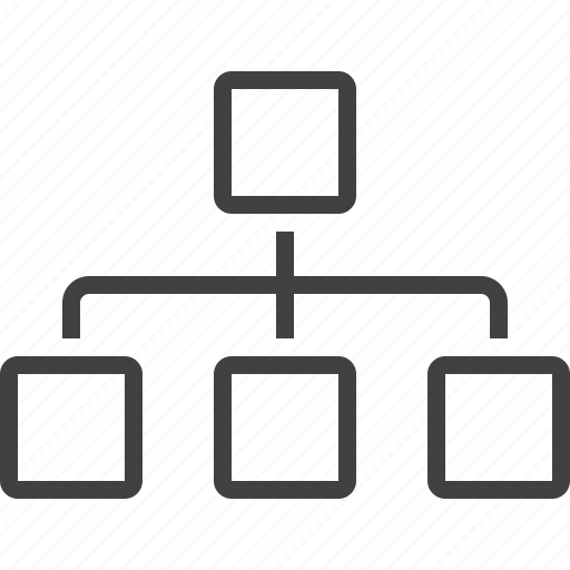 chart, hierarchy, organizational, sitemap icon