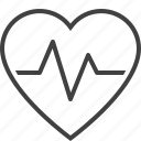 beat, cardiogram, heart, pulse icon