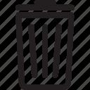 bin, delete, dust bin, recycle, recycle bin, remove, trash icon