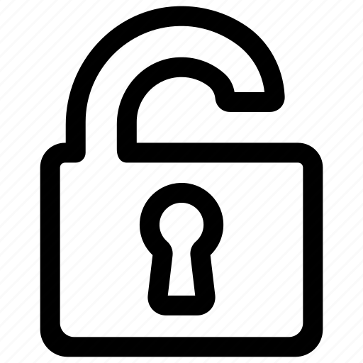 unlock, unlocked, unsecure icon