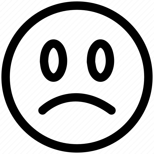 angry, sad, unhappy icon