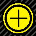 interface, plus, user icon