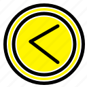 arrow, interface, left, user icon