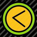 arrow, interface, left, user