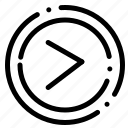 arrow, interface, right, user icon