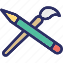 art, brush, paint, painting, painting brush icon