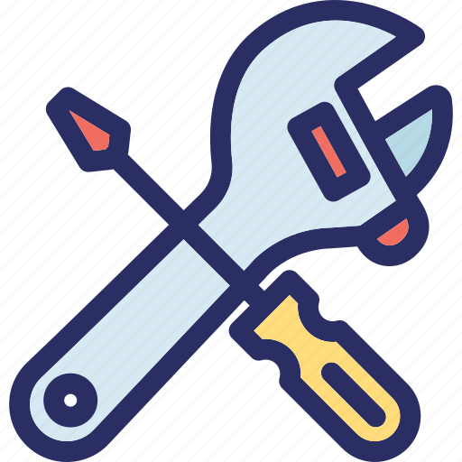 garage tool, repair tool, setting, spanner, wrench icon