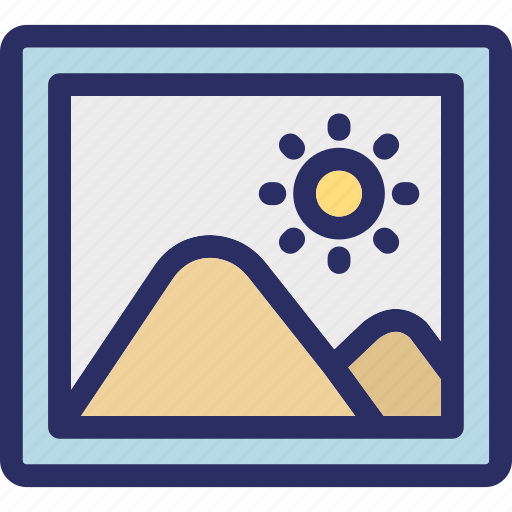 hill, landscape, mountains, nature view, scenery icon