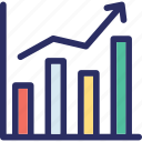 analysis, analytics, bar chart, graph, up graph icon