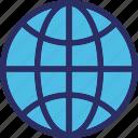 earth grid, globe, planet, world map, worldwide icon