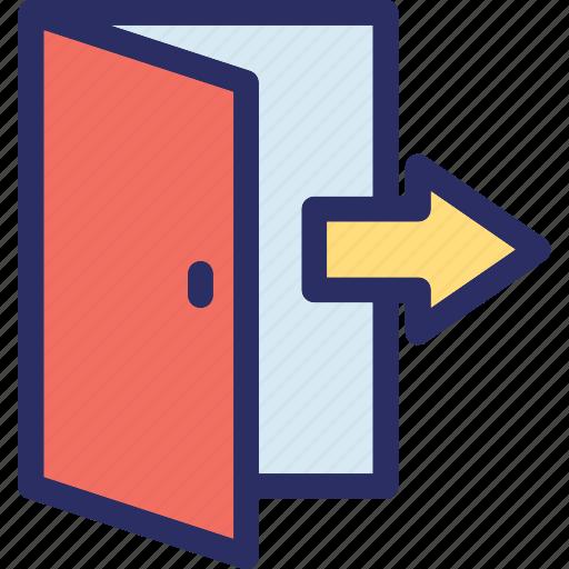 door, enter door, exit door, gate, open door icon