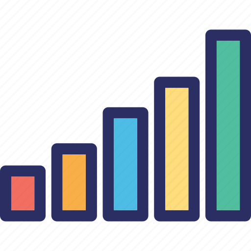 analysis, bar chart, bar graph, bars, graph icon