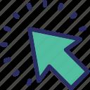 arrow, cursor, move, navigational, paperplane icon