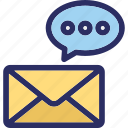 communication, message, mobile message, sms, text message icon