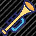 music, sound, trombone, trumpet, tuba icon