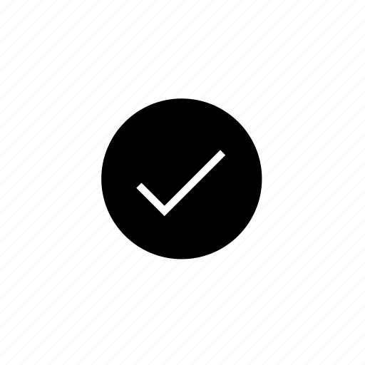 check, interface, user icon