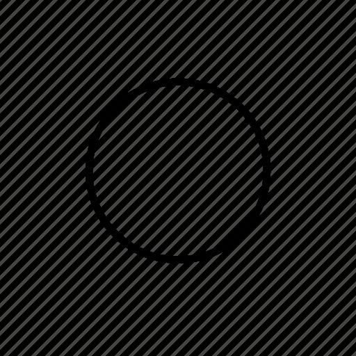 circle, interface, user icon