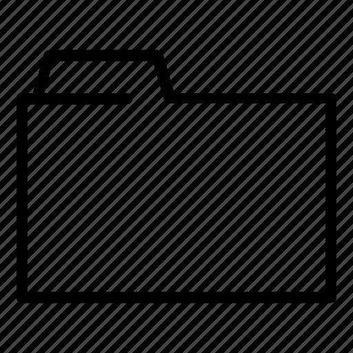 folder, outline, ui icon