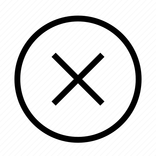 back, cancel, cross, delete icon