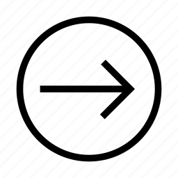 arrow, forward, next, pass, right icon