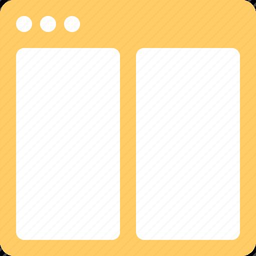 application, horizontal, split icon